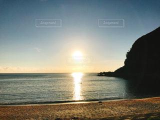 自然,風景,海,空,夕日,島,水面,海岸,島旅,夏旅
