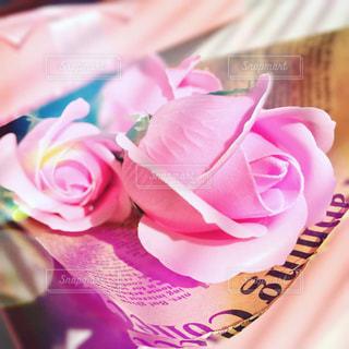 花,ピンク,バラ,プレゼント,ソープフラワー