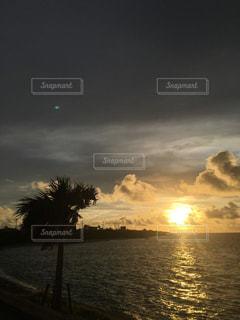 風景,空,夏,夕日,南国,石垣島