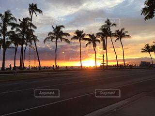 夕日,ハワイ,夕日が綺麗