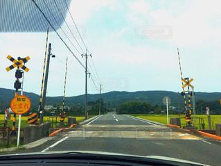 風景,空,秋,線路,ドライブ,田舎道,秋空,秋晴