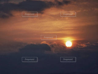 空,夕日,大阪,太陽,雲,夕焼け,夕暮れ,オレンジ,雲海,夕景,sunset