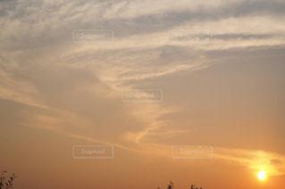 夕焼け空に浮かぶ雲の写真・画像素材[1308032]