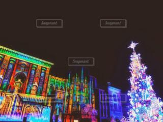 クリスマスツリーが輝く時の写真・画像素材[1684399]