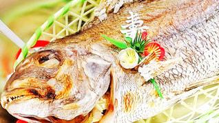 にらみ鯛、祝い鯛の写真・画像素材[1738512]