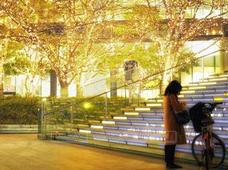 女性,風景,建物,夜,夜景,自転車,ビル,木,屋外,大阪,階段,赤,綺麗,黄色,観光地,アート,景色,女子,光,観光,背景,樹木,イルミネーション,都会,休憩,人物,外,キラキラ,広場,コンクリート,地面,明るい,大阪駅,赤色,印象的,スナップ,雰囲気,樹,帰り道,黄,LED,待ち合わせ,金,金色,輝き,室外,大阪市,煌めき,フォトジェニック,帰り,チラシ,ちらし,都会の風景,ブログ,グランフロント大阪,インスタ映え,フライヤー,シャンパンゴールド,街スナップ,champagne gold