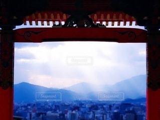 天使のはしご•清水寺の写真・画像素材[3347131]