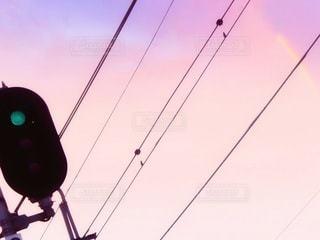 電車信号機の写真・画像素材[3397051]