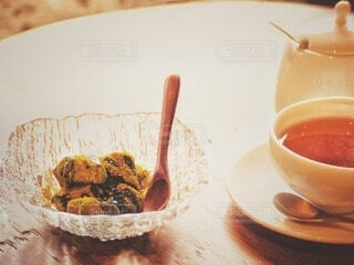 ティータイム 抹茶わらび餅の写真・画像素材[3856556]