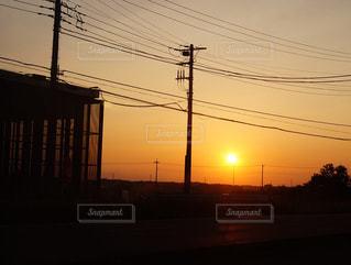 空,夕日,きれい,夕焼け