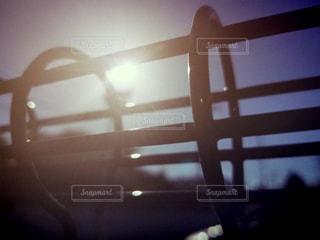 自然,空,夕日,夕焼け,光,フェンス,フィルム風