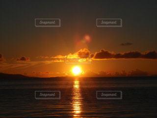 自然,海,空,夕日,屋外,夕焼け,海辺