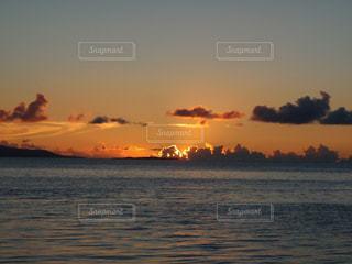 自然,海,空,夕日,夕焼け,海辺