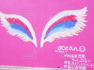 カフェ,建物,ピンク,沖縄,壁,羽,天使,おしゃれ,北部,フォトジェニック,インスタ映え