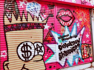 ピンク,アート,沖縄,那覇,国際通り,pink,シャッター,フォトジェニック,インスタ映え,むつみ橋通り