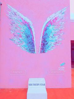 ピンク,アート,沖縄,壁,pink,天使の羽,フォトジェニック,インスタ映え