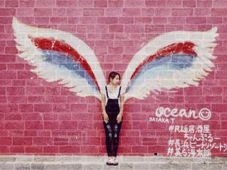 建物,ピンク,沖縄,壁,天使の羽,北部,インスタ映え