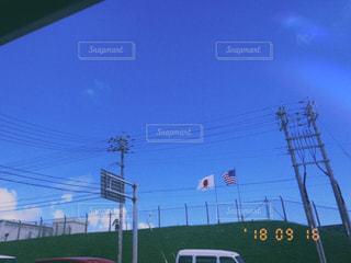 空,沖縄,国旗,旗,秋空