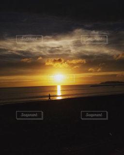 海,空,夕日,海岸,千葉,秋空
