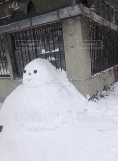 冬,雪,白,北海道,観光,雪だるま,ホワイト,休暇