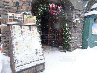 冬,雪,屋外,北海道,家,樹木,お店,通り,休暇,フォトジェニック