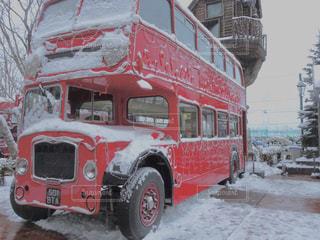 冬,雪,屋外,赤,白,車,都会,トラック,バス,ホワイト,運ぶ,白い恋人パーク,ダブル,デッカー