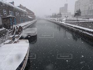 自然,冬,雪,屋外,白,川,北海道,小樽,通り,ホワイト,黒と白