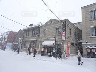 空,建物,冬,街並み,雪,屋外,白,観光地,北海道,観光,人物,旅行,小樽,ホワイト