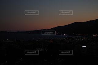 空,夕日,夜景,屋外,小田原城からの景色