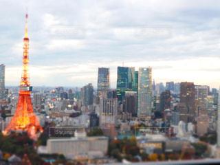 東京タワー,夕焼け,都会,展望台,浜松町