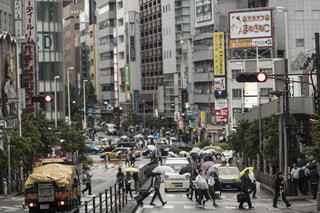 雨,傘,東京,街,都会,新宿,梅雨,ビジネス