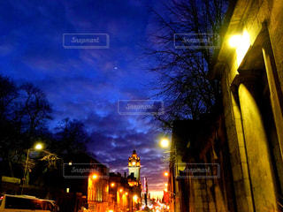 風景,夕日,ヨーロッパ,ライトアップ,旅行,旅,イギリス,歩道,女子旅,海外旅行,フォトジェニック
