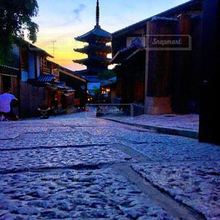 風景,空,夕日,屋外,京都,ライトアップ,人,旅行,旅,女子旅,フォトジェニック