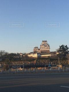 夕日,夕暮れ,城,日本,姫路城,姫路,伝統