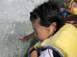 夏,屋外,波,水面,女の子,琵琶湖