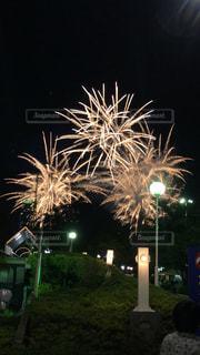 夜空の花火の写真・画像素材[1461391]