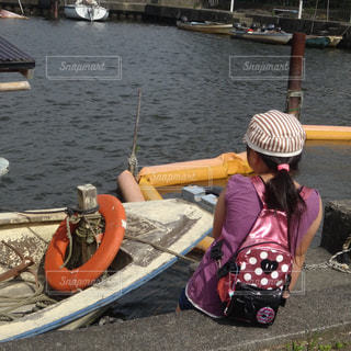 自然,夏,後ろ姿,女の子,小学生,琵琶湖,11歳