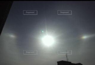 空,太陽,光,ハロ,大気光学現象,幻日
