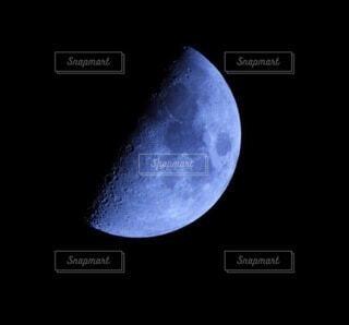 自然,風景,空,夜,夜空,屋外,月,上弦,月面,天文学