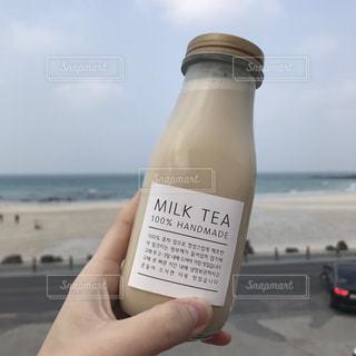 カフェ,海辺,茶色,ベージュ,ミルクティー,おしゃれカフェ,済州島,milktea,チェジュ,カフェめぐり,海沿いカフェ,済州市,ミルクティー色