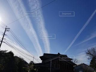 無数の長い雲の写真・画像素材[1262630]