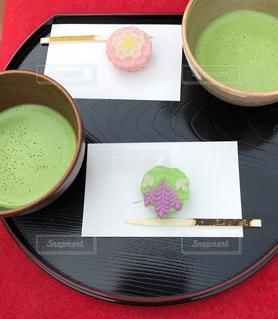 六義園の和菓子とお抹茶の写真・画像素材[2979840]
