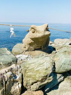 二見興玉神社にあるカエルの写真・画像素材[4564034]