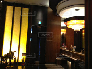 高級レストラン、銀座・筑紫樓の内観の写真・画像素材[4579124]