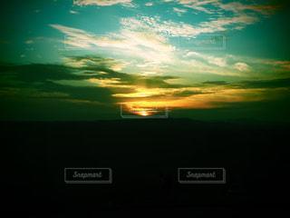 風景,空,夕日,山,大観峰