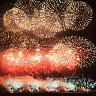 空に花火の写真・画像素材[1310962]