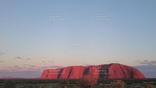 夕日,オーストラリア,エアーズロック,ウルル,夕暮れの空