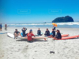 サーフィンスクールの写真・画像素材[1304678]