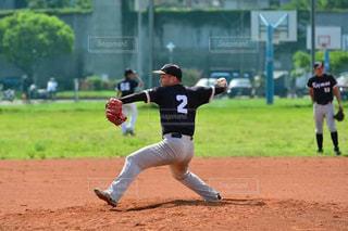 草野球チームの写真・画像素材[1304682]