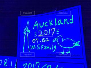 イラスト,メッセージ,ニュージーランド,手書き,ブラックライト,NZ,蛍光ペン,旅の足跡,旅の記念